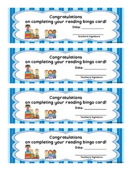READING BINGO with Children