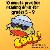 READING COMPREHENSION  TASK CARDS - 10 MINUTE DRILLS