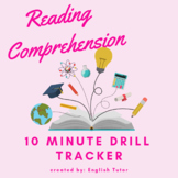 READING COMPREHENSION - 10 minute drill tracker