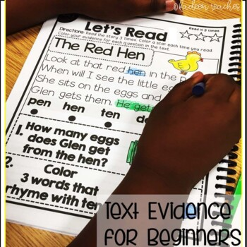 READING COMPREHENSION AND TEXT EVIDENCE FOR BEGINNERS-WORD FAMIILIES
