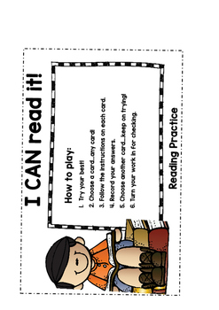 READING & COMPREHENSION - I CAN - Activity Cards