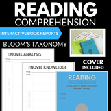 READING COMPREHENSION BLOOM'S TAXONOMY INTERACTIVE BOOK REPORTS