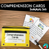 READING COMPREHENSION CARDS SUMMER