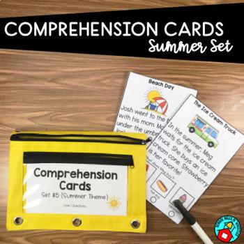 READING COMPREHENSION CARDS SUMMER