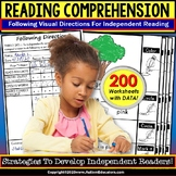 READING COMPREHENSION Following Visual Directions for Key Details WORKSHEETS