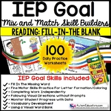 READING COMPREHENSION IEP Skill Builder FILL-IN-THE-BLANK