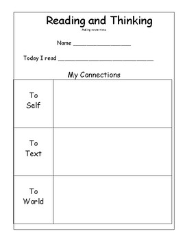 READING COMPREHENSION:  Metacognition, Making Connections and Author's Purpose