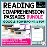 Reading Comprehension Passages and Questions Bundle 2nd | Distance Learning