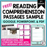 Reading Comprehension Passages/Questions for 2nd Grade FRE