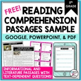 Reading Comprehension Passages/Questions for 5th Grade FRE