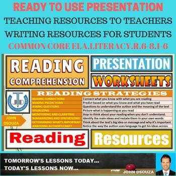READING COMPREHENSION: LESSON PRESENTATION