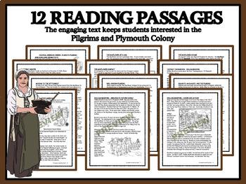 BUNDLE: READING COMPREHENSION - Plymouth Pilgrims