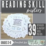 READING COMPREHENSION SKILLS POSTERS | 13 Skill Concepts!