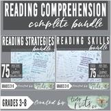 READING COMPREHENSION SKILLS & STRATEGIES COMPLETE BUNDLE
