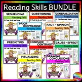 Printable  READING COMPREHENSION SKILLS Resource BUNDLE Anchor Charts Task Cards