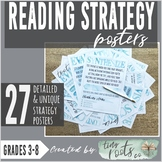 READING COMPREHENSION STRATEGIES POSTERS | 17 Strategy Concepts!