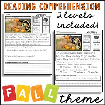 READING COMPREHENSION WITH VISUALS - FALL