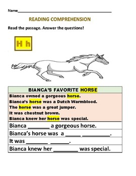 READING COMPREHENSION WORKSHEETS: SET OF 3/  GRADES 1-4, ESL, DYSLEXIA