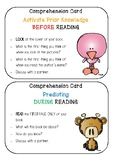 READING Comprehension Cards - Links to Sheena Cameron