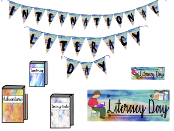 READING DECORATION LITERACY DAY -BULLETIN BOARD- BACK TO SCHOOL