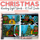 READING DOLCH SIGHT WORDS: FIRST GRADE: CHRISTMAS/WINTER THEMED: SLIDESHOW