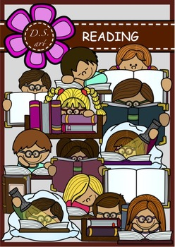 READING Digital Clipart (color and black&white)