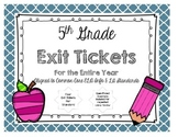 READING EXIT TICKETS BUNDLE - LITERATURE & INFORMATIONAL
