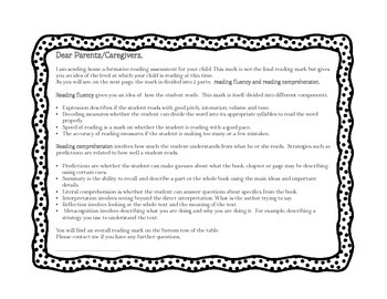 READING FEEDBACK/ASSESSMENT