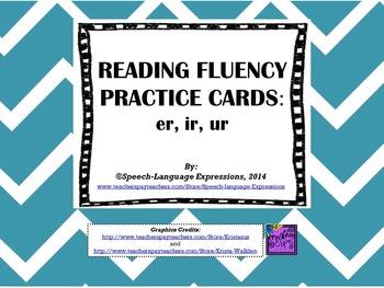 READING FLUENCY PRACTICE CARDS (R-CONTROL: ER, IR, UR)