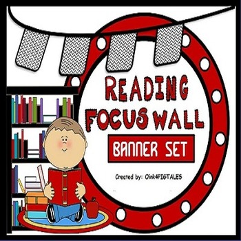 Reading Bulletin Board Red and Black Set