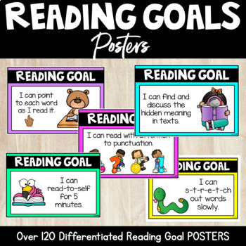 READING GOAL POSTERS by Miss Learning Bee | Teachers Pay Teachers