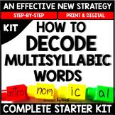 Decoding Multisyllabic Words COMPLETE SUMMER MEGA BUNDLE - Reading Intervention