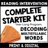 READING INTERVENTION Decoding Multisyllabic Words COMPLETE STARTER KIT DISTANCE