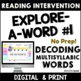 READING INTERVENTION BINDER Decoding Multisyllabic Words 1