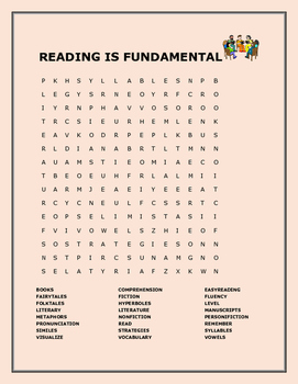 READING IS FUNDAMENTAL WORD SEARCH
