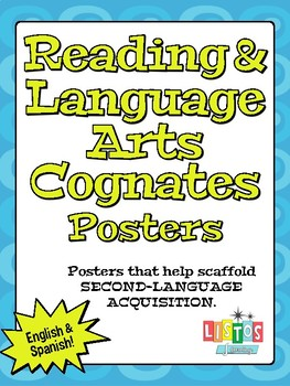 READING & LANGUAGE ARTS COGNATES Poster - English & Spanish