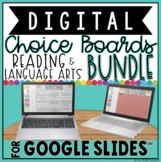 READING & LANGUAGE ARTS DIGITAL CHOICE BOARDS BUNDLE FOR GOOGLE DRIVE™