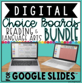 READING & LANGUAGE ARTS DIGITAL CHOICE BOARDS BUNDLE FOR G