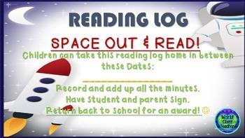 READING LOG FREEBIE ((SPACE THEME))