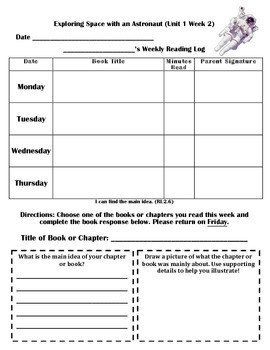 READING LOGS with READER RESPONSE BUNDLE- Reading Street ( 2013) Units ONE- SIX