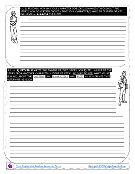 READING LOG_NARRATIVE_CCSS-BASED_TEEN_CLIPART