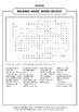 READING MUSIC WORD SEARCH