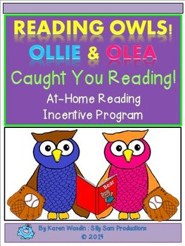 READING OWLS! CAUGHT YOU READING! At-Home Reading Incentiv