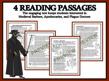 READING PASSAGES AND BINGO: Medieval Barbers, Apothecaries, and Plague Doctors