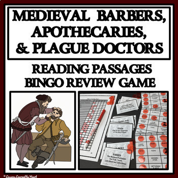 READING PASSAGES AND BINGO - Barber, Apothecary and Plague Doctor
