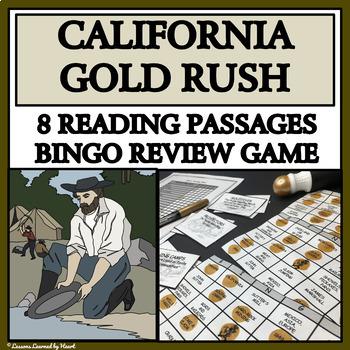 READING PASSAGES AND BINGO - California Gold Rush