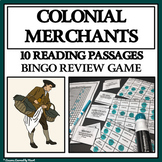 COLONIAL SHOPKEEPERS AND MERCHANTS - Reading Passages and Bingo