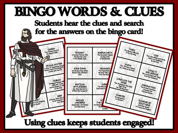 READING PASSAGES AND BINGO: Medieval Kings, Queens and the Feudal System