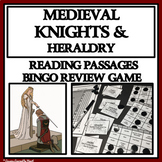 READING PASSAGES AND BINGO: Medieval Knights and Heraldry