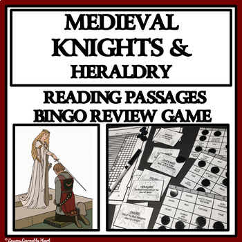 MEDIEVAL KNIGHTS AND HERALDRY - Reading Passages and Bingo